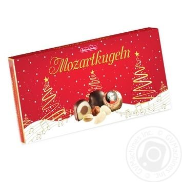 Конфеты Schluckwerder Mozartkugeln фисташковый марципан в шоколаде 200г