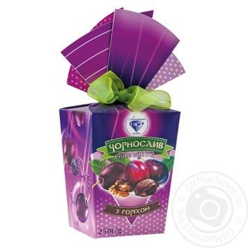 Конфеты Аметист плюс Чернослив с орехом подарочная упаковка 250г - купить, цены на Novus - фото 1
