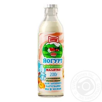 Yogurt Zlagoda Malyatko Apricot-Carrot for 8+months babies 2.8% 200g - buy, prices for CityMarket - photo 1