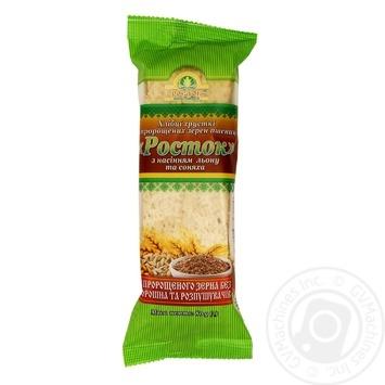Хлебцы Укр Эко-Хлеб Росток семян лен и подсолнечник 80г - купить, цены на Ашан - фото 1