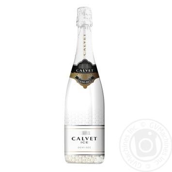 Вино игристое Calvet Ice Chardonnay белое полусладкое 11,5% 0,75л