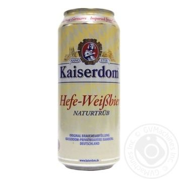 Пиво Kaiserdom Hefe Weisbier світле з/б 4,7 % 0,5л - купити, ціни на Novus - фото 1