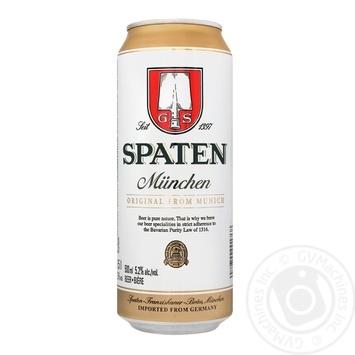 Пиво Spaten Munchen светлое 5,2% 0,5л