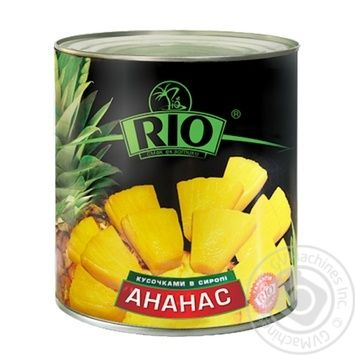 Ананаси Ріо кільцями в сиропі 580мл Таїланд - купити, ціни на Novus - фото 1