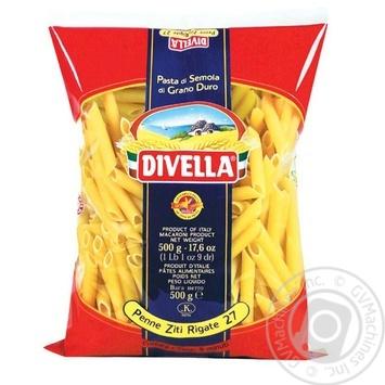Макаронні вироби Divella Penne Ziti Rigate №27 500г - купити, ціни на Novus - фото 1