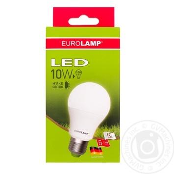 Лампа светодиодная Eurolamp LED A60 E27 10W 3000K - купить, цены на Novus - фото 1