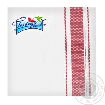 Серветки паперові Текстиль, 33х33 см, 3шар, Tissueclub 20 шт - купить, цены на Novus - фото 1