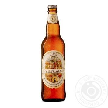 Пиво Vilniaus Alus светлое нефильтрованное 5,2% 0,5л