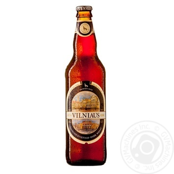 Пиво Vilniaus темне нефільтроване 5,8% 0,5л - купити, ціни на Novus - фото 1