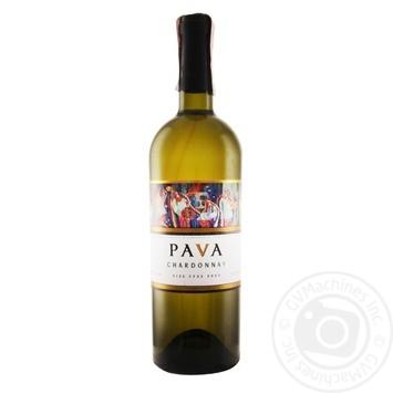 Вино Pava Шардоне ординарное белое сухое 9,5-14% 0,75л - купить, цены на МегаМаркет - фото 1