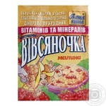 Каша овсяная Ваша Каша Овсяночка Сказочная Малина с сахаром быстрого приготовления 35г Украина