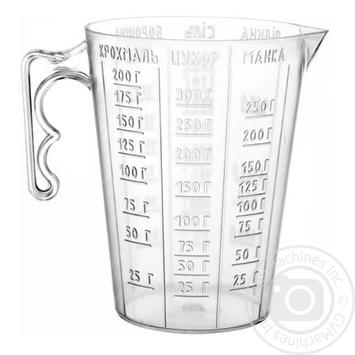 Стакан вимірник пластиковий Gonchar 0,3л - купить, цены на Novus - фото 1