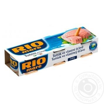Тунец Rio Mare в собственном соку 3х80г - купить, цены на Novus - фото 1