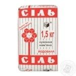 Artyomsol Iodized Stone Salt 1.5kg - buy, prices for Novus - image 1