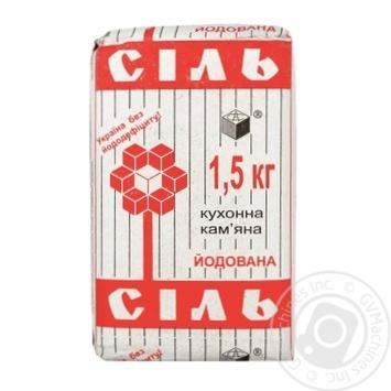 Соль каменная Артемсоль кухонная йодированная 1.5кг - купить, цены на МегаМаркет - фото 1