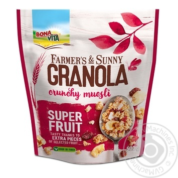 Гранола з фруктами Bona vita 500г м/у - купить, цены на Novus - фото 1