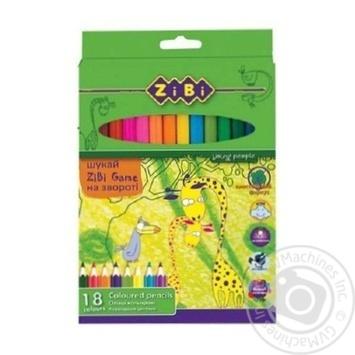 Олівці ZiBi кольорові 18 кольорів - купити, ціни на CітіМаркет - фото 3