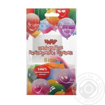 Кульки повітряні Party Favors Декоратор 5шт 61230/5 - купить, цены на Novus - фото 1