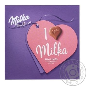 Milka Milk Chocolate Candies with Creamy Strawberry Filling 110g - buy, prices for CityMarket - photo 1