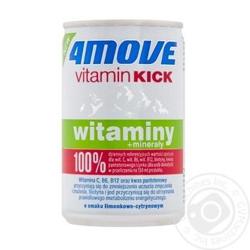 Напиток 4Move со вкусом лайма и лимона с добавлением витаминов и минералов 0,15л