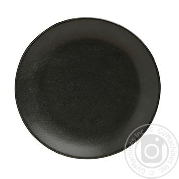 Тарелка Koopman черная 28см