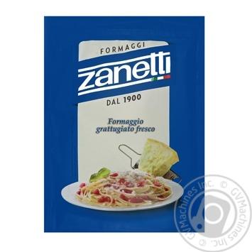Сир Zanetti Formaggio grattugiato fresco твердий тертий мікс 100г - купити, ціни на Метро - фото 1