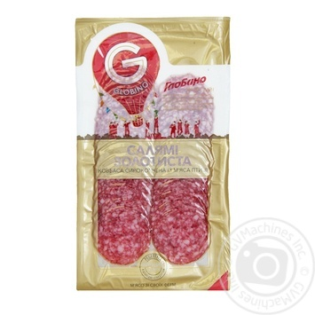 Raw smoked suasage Globino Salami goldy with poultry meat - buy, prices for Furshet - image 2