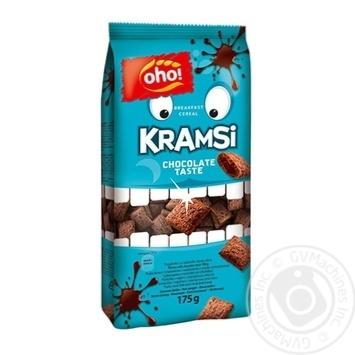 Oho Kramsi Grain Pads Stuffed with Chocolate Flavor Dry Breakfast 175g