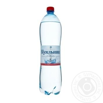 Вода Куяльник сильногазированная лечебно-столовая пластиковая бутылка 1500мл Украина - купить, цены на Novus - фото 1