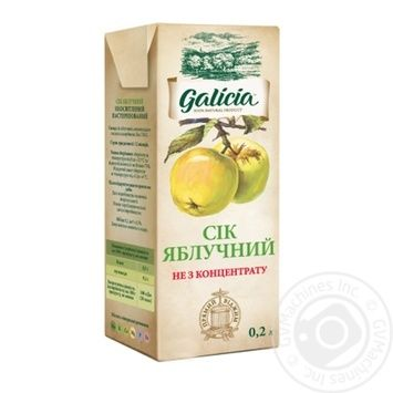 Galicia apple juice 0.2l - buy, prices for Auchan - image 1