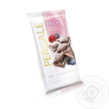 Шоколад молочный Pergale с начинкой из лесных ягод 100г - купить, цены на Novus - фото 1