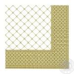 Серветки Silken Decor целюлозні тришарові з друком Золота рамка 20шт