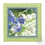 Салфетки Silken Ландыши бумажные столовые 33х33см 3 слоя 18шт