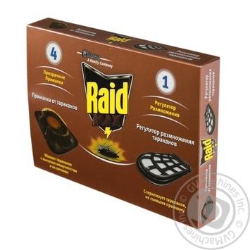 Приманка от тараканов Raid Max 4 приманки + 1 регулятор размножения - купить, цены на Ашан - фото 1