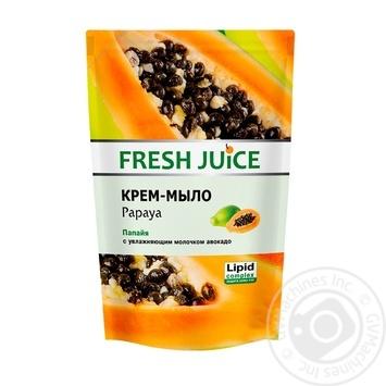 Крем-мило Fresh Juice Papaya дой-пак 460мл - купити, ціни на Novus - фото 1