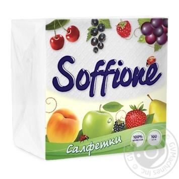 Soffione Napkins 33X33cm 100pcs - buy, prices for MegaMarket - image 2