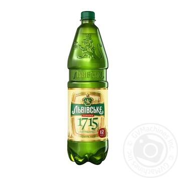 Пиво Львовское 1715  светлое пастеризованное 4.7% 1.2л - купить, цены на Novus - фото 1