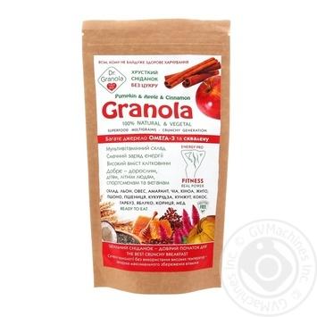 Golden kings of Ukraine Dr.Granola Pumpkin, Apple and Cinnamon Granola 125g - buy, prices for Auchan - image 1