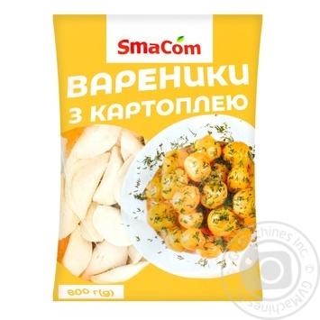 Вареники SmaCom с картофелем замороженные 800г