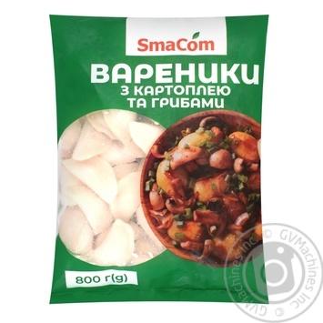 Вареники SmaCom с картофелем и грибами замороженные 800г