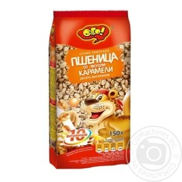 Завтрак сухой Oho воздушные зерна пшеницы со вкусом карамели 150г