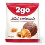 Круасани 2go шоколадна начинка міні 180г - купити, ціни на Метро - фото 1