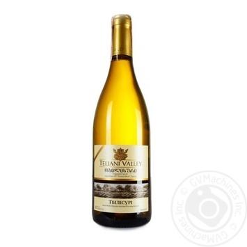 Вино Teliani Valley Тбілісурі біле напівсухе 12% 0,75л - купити, ціни на МегаМаркет - фото 1