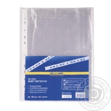 Файл A4+ BuroMax для документів 40мкм 100шт - купить, цены на Novus - фото 1