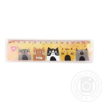 Лінійка YES з рідиною 15см Cats - купити, ціни на Novus - фото 1
