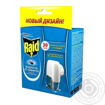Электрофумигатор Raid от комаров с жидкостью 30 ночей 50мл - купить, цены на Фуршет - фото 1