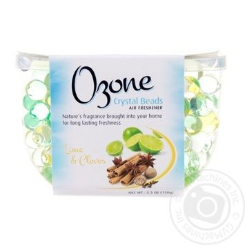 Ozone Crystal Beads Crystal air freshener on the basis of lime gel and carnation 150g - buy, prices for Novus - image 1