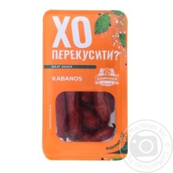 Ковбаски Бащинський Kabanos напівкопчені 1/г 100г - купити, ціни на Novus - фото 1