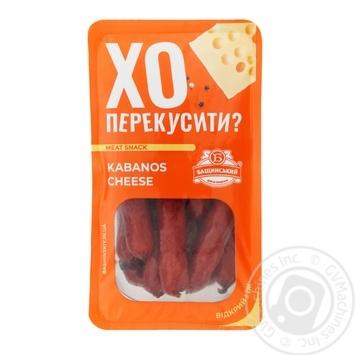 Bashinskyi Kabanos Cheese Semi-Smoked Sausages 100g - buy, prices for Auchan - photo 1