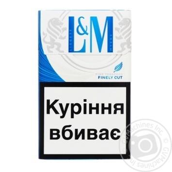 L&M Blue Label Cigarettes 20pcs - buy, prices for CityMarket - photo 1